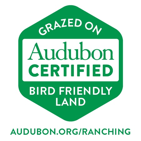 Grazed on Audubon Certified Bird Friendly Land